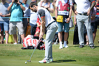 TV and radio presenter Gethin Jones is on the green during the Bulmers 2018 Celebrity Cup at the Celtic Manor Resort. Newport, Gwent,  Wales, on Saturday 30th June 2018<br /> <br /> <br /> Jeff Thomas Photography -  www.jaypics.photoshelter.com - <br /> e-mail swansea1001@hotmail.co.uk -<br /> Mob: 07837 386244 -