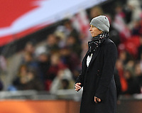 9th November 2019; Wembley Stadium, London, England; International Womens Football Friendly, England women versus Germany women; Martina Voss-Tecklenburg Head Coach for Germany encourages her team - Editorial Use