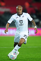 Andre Ayew of Swansea City during the Sky Bet Championship match between Swansea City and Millwall at the Liberty Stadium in Swansea, Wales, UK. Saturday 23rd November 2019