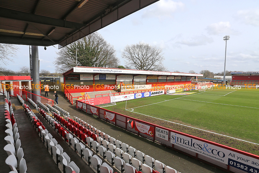 General view of the North Terrace during Stevenage vs Notts County, Sky Bet EFL League 2 Football at the Lamex Stadium on 4th March 2017