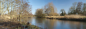 Panoramic view of the River Kennet at Padworth near Reading, Berkshire, Uk