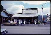 Old Conoco station on main street in Crested Butte, Colorado<br /> D&amp;RGW  Crested Butte, CO