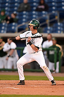 USF Bulls infielder/outfielder Kevin Merrell (6) squares to bunt during a game against the Louisville Cardinals on February 14, 2015 at Bright House Field in Clearwater, Florida.  Louisville defeated USF 7-3.  (Mike Janes/Four Seam Images)