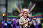 © Joel Goodman - 07973 332324 . 14/06/2015 . Manchester , UK . Looks like rain . Manchester Day parade and festival through Manchester City Centre . Photo credit : Joel Goodman