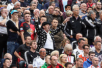 Pictured: Swansea supporters. Saturday 16 August 2014<br />