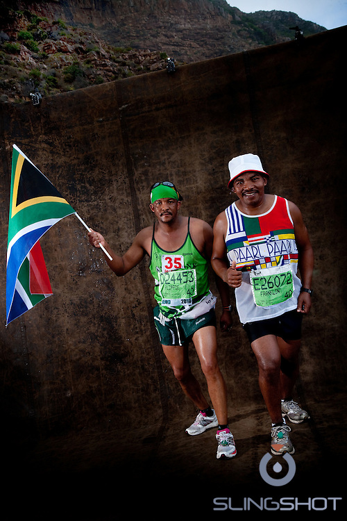 Photographic Campaign, called Studio Oceans.. We set up a studio on the middle of Chapman's Peak in the middle of the race where we shot portraits of the runners from the leaders to the back markers