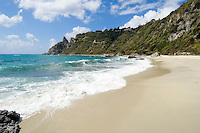 Italy, Calabria, near Protea: coastline and beach at Capo Vaticano