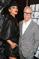NEW YORK, NY- SEPTEMBER 8: Jasmine Sanders and Tommy Hilfiger at the TOMMYXZENDAYA NYFW 2019 Runway Show at The Apollo Theatre in New York City on September 8, 2019. <br /> CAP/MPI/WG<br /> ©WG/MPI/Capital Pictures