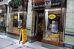 Colman's famous mustard shop, Royal Arcade, Norwich, England