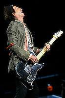 Keith Richards and the Rolling Stones perform at the Forum