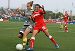 27 August 2011: Philadelphia's Nikki Krzysik (15) and Western New York's Marta (BRA) (10). Western New York Flash defeated the Philadelphia Independence 5-4 on penalty kicks to win the final after the game ended in a 1-1 tie after overtime at Sahlen's Stadium in Rochester, New York in the Women's Professional Soccer championship game.