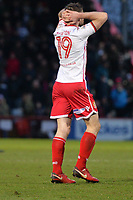 Danny Newton of Stevenage during Stevenage vs Reading, Emirates FA Cup Football at the Lamex Stadium on 6th January 2018