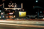 Crosby Stills and Nash billboard on the Sunset Strip in Los Angeles, California circa 1977