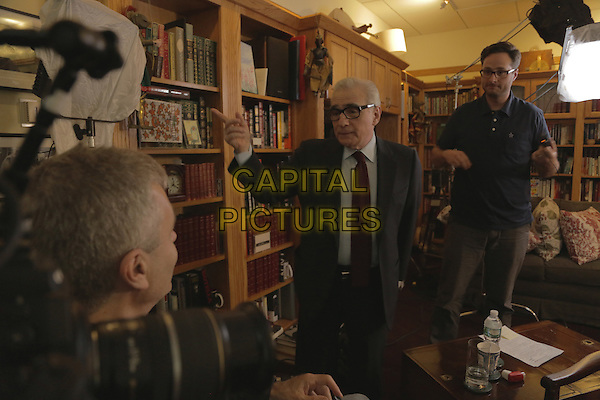 Martin Scorsese speaks to director Steve James <br /> on the set of Life Itself (2014) <br /> *Filmstill - Editorial Use Only*<br /> CAP/FB<br /> Image supplied by Capital Pictures