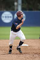 Ted Boeke (16) of the Loyola Marymount Lions runs the bases during a game against the Washington State Cougars at Page Stadium on February 26, 2017 in Los Angeles, California. Loyola defeated Washington State, 7-4. (Larry Goren/Four Seam Images)