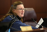 Nevada Assemblywoman Maggie Carlton, D-Las Vegas, works in committee at the Legislative Building in Carson City, Nev. on Friday, Feb. 8, 2013. .Photo by Cathleen Allison