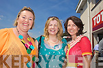 Angela Glancy, Martina Winters and Mary Kelly at Listowel Races on Sunday.