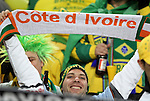 20 JUN 2010: Ivory Coast fan. The Brazil National Team played the C'ote d'Ivoire National Team at Soccer City Stadium in Johannesburg, South Africa in a 2010 FIFA World Cup Group G match.
