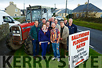 Launching the BallyHeigue Ploughing Match on Sunday 22nd October in Flahives Field were Aileen Corridan, Pat Flahives, Michael Horan, Patrick Supple, James o'driscoll, Christy O'Mahony, Phillip Healy, Michael O Hanlon, J P Corridan, Liam O'Mahony