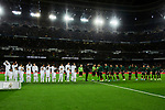 Players of Real Madrid and Players of Athletic Club during La Liga match between Real Madrid and Athletic Club de Bilbao at Santiago Bernabeu Stadium in Madrid, Spain. December 22, 2019. (ALTERPHOTOS/A. Perez Meca)