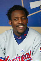 Vladimir Guerrero In a baseball game played in Los Angeles which the Dodgers beat the Expos 10-1