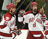 Marshall Everson (Harvard - 21), Patrick McNally (Harvard - 8) - The Harvard University Crimson defeated the visiting Bentley University Falcons 5-0 on Saturday, October 27, 2012, at Bright Hockey Center in Boston, Massachusetts.