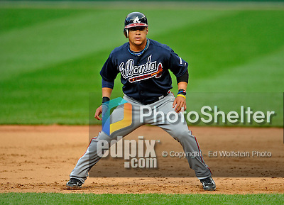 12 April 2008: Atlanta Braves' outfielder Gregor Blanco in action against the Washington Nationals at Nationals Park, in Washington, DC. The Braves defeated the Nationals 10-2...Mandatory Photo Credit: Ed Wolfstein Photo