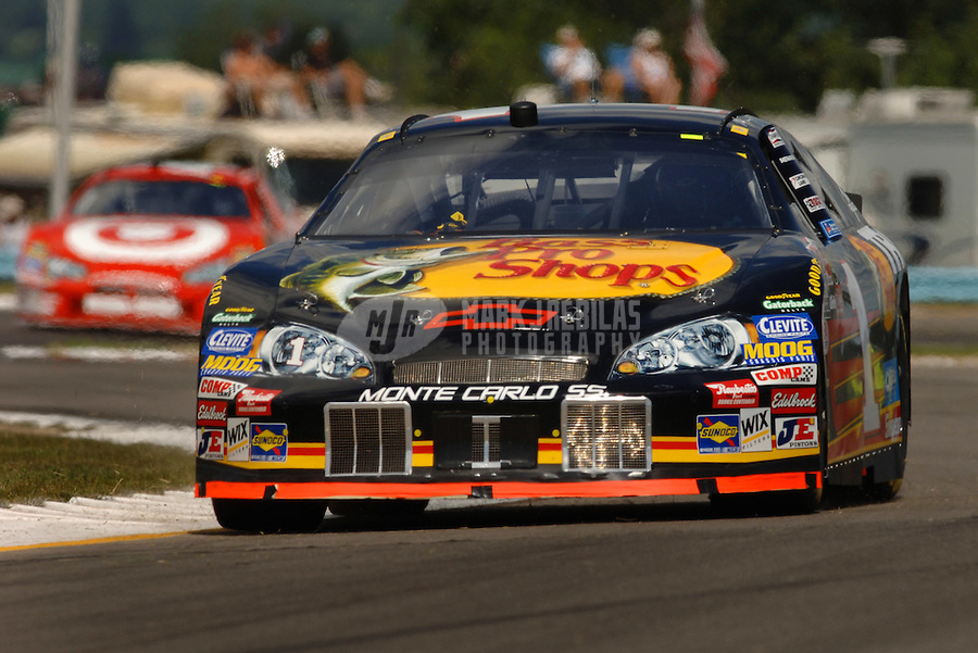 Aug. 13, 2006; Watkins Glen, NY, USA; Nascar Nextel Cup driver Martin Truex Jr (1) during the AMD at the Glen at Watkins Glen International. Mandatory Credit: Mark J. Rebilas