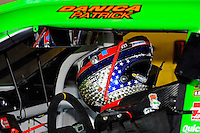 Danica Patrick's (#10) Schuberth Helme (Helmet) as it hangs in her car.