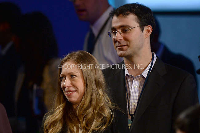 WWW.ACEPIXS.COM<br /> September 22, 2014 New York City<br /> <br /> Chelsea Clinton and Marc Mezvinsky during the Clinton Global Initiative on September 22, 2014 in New York City.<br /> <br /> <br /> By Line: Kristin Callahan/ACE Pictures<br /> ACE Pictures, Inc.<br /> tel: 646 769 0430<br /> Email: info@acepixs.com<br /> www.acepixs.com