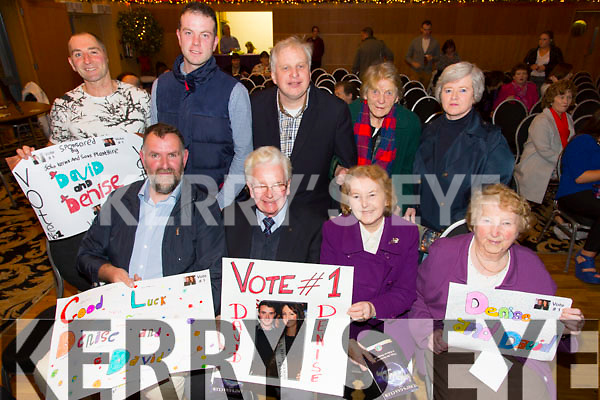 Front l-r John Kerins, Con Curran, Phil Curran, Hannie Kerins.  Back l-r Patrick Dillane, Paul O'Sullivan, Patrick Dillane, Pattie Dillane, Joan O'Connor  at the St. Pats Blennerville Strictly come Dancing fundraiser at Ballyroe Heights Hotel on Friday