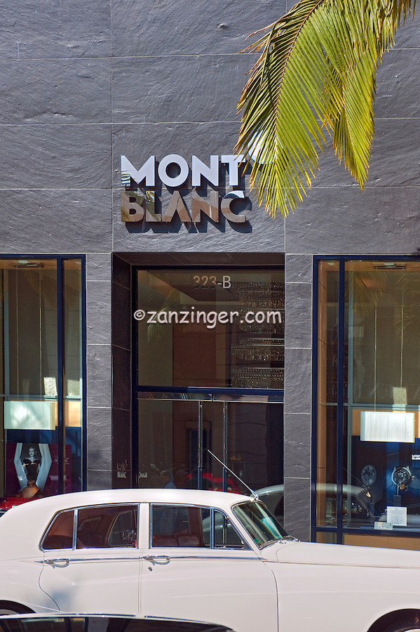 MONT BLANC, Rodeo Drive, Beverly Hills, CA, Luxury Shopping, Boutiques, , Vertical image
