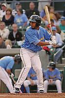 Myrtle Beach Pelicans shortstop Leury Garcia #3 at bat during the opening game of the season against the Wilmington Blue Rocks at BB&T Coastal Field in Myrtle Beach, SC on April 8, 2011.   Photo By Robert Gurganus/Four Seam Images