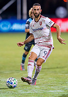 17th July 2020, Orlando, Florida, USA;  Real Salt Lake forward Justin Meram (9) passes the ball during the MLS Is Back Tournament between the Real Salt Lake versus Minnesota United FC on July 17, 2020 at the ESPN Wide World of Sports, Orlando FL.