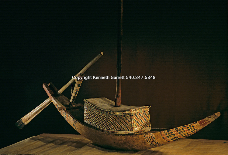 Wooden model of river ship, Tutankhamun and the Golden Age of the Pharaohs, Page 246 top