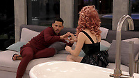 Andrew Brady, Courtney Act<br /> Celebrity Big Brother 2018 - Day 8<br /> *Editorial Use Only*<br /> CAP/KFS<br /> Image supplied by Capital Pictures