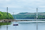 The Penobscot Narrows Bridge and Observatory on the Penobscot River, Bucksport, Mid-coast, ME