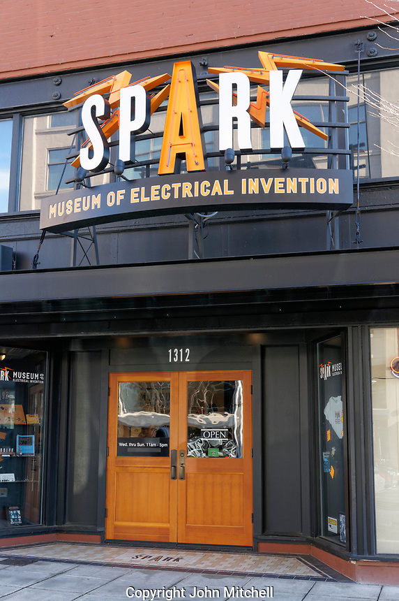 Spark Museum of Electrical Invention in downtown Bellingham, Washington state, USA