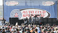 March 24, 2013 Fontana, CA: 17th Annual Auto Club 400 held at the Auto Club Speedway. RATT performs fore the Auto Club 400
