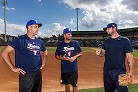 18 September 2012: Coaches Arnaud Fau, Jamel Boutagra and Eric Gagne are seen during Team France practice, at the 2012 World Baseball Classic Qualifier round, in Jupiter, Florida, USA.