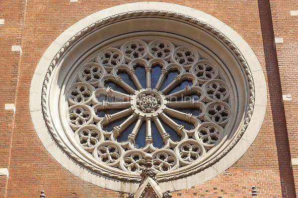 Round window, Saint Anthony of Padua Roman Catholic Church, Istiklal Caddesi, Beyoglu, Istanbul, Turkey  May 2015.<br /> CAP/MEL<br /> &copy;MEL/Capital Pictures /MediaPunch ***NORTH AND SOUTH AMERICA ONLY***