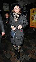 Bonnie Langford at the &quot;9 To 5 The Musical&quot; theatre cast stage door departures after the evening performance, Savoy Theatre, The Strand, London, England, UK, on Tuesday 05th February 2019.<br /> CAP/CAN<br /> &copy;CAN/Capital Pictures