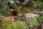 Walker's Wharf Garden supported by Doncaster Deaf Trust. Designed by: Graham Bodle. Sponsored by: Walker's Nurseries. RHS Chelsea Flower Show 2017. Stand no. Artisan Garden 561