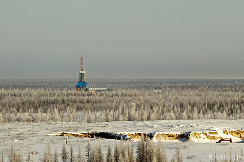 "Achimgaz gas ""second"" drilling well in Novy Urengoi, Siberia, Russia."
