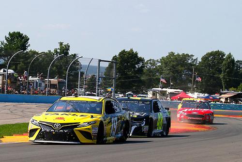 #19: Daniel Suarez, Joe Gibbs Racing, Toyota Camry STANLEY and #48: Jimmie Johnson, Hendrick Motorsports, Chevrolet Camaro Lowe's for Pros