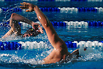 GREENSBORO, NC - MARCH 17: Tim Samuelsen chases down Mackenzie Hamill en route to victory in the Men's 1,650 Yard Freestyle during the Division II Men's and Women's Swimming & Diving Championship held at the Greensboro Aquatic Center on March 17, 2018 in Greensboro, North Carolina. (Photo by Mike Comer/NCAA Photos/NCAA Photos via Getty Images)