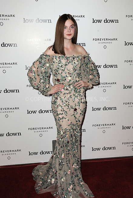 ACEPIXS.COM<br /> <br /> October 23 2014, LA<br /> <br /> Actress Elle Fanning arriving at the premiere of 'Lowdown' at the ArcLight Hollywood on October 23, 2014 in Hollywood, California<br /> <br /> By Line: Peter West/ACE Pictures<br /> <br /> ACE Pictures, Inc.<br /> www.acepixs.com<br /> Email: info@acepixs.com<br /> Tel: 646 769 0430