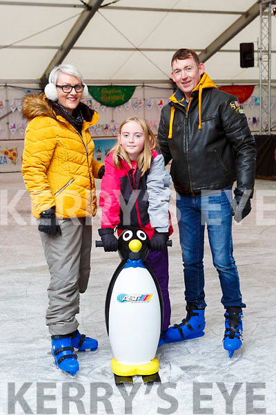 Marian, Eadha and Joe Lynch Listowel enjoying the Killarney on Ice Skating ring on Saturday