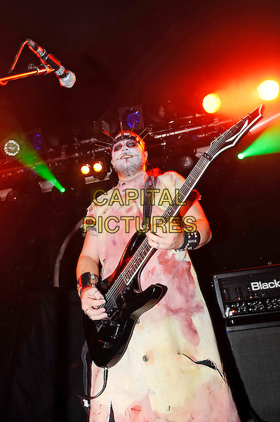 LONDON, ENGLAND - OCTOBER 31: Dr Rabid Hell of 'Evil Scarecrow' performing at The Garage on October 31, 2015 in London, England.