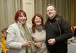 Carol Buckley, Mairead Mannion and Martin Waldron at the announcement of the winners of the annual Clare Champion Christmas Shop Window Display competition in the Old Ground hotel, Ennis. Photograph by John Kelly.